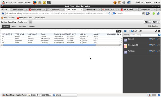 Creating Data Control & Task flow in Webcenter Portal Builder
