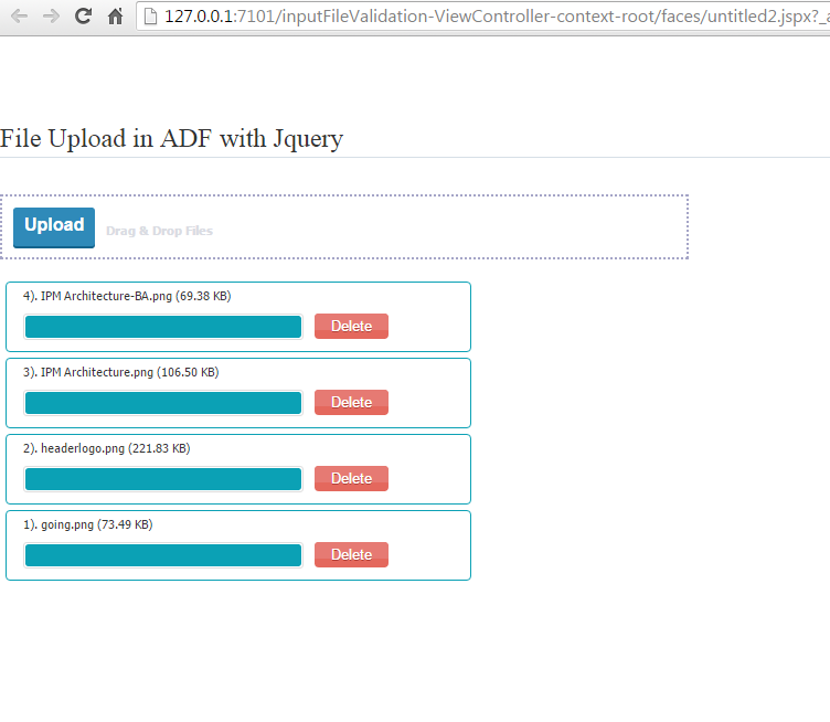 Multiple file upload with Jquery in ADF/Webcenter | Techartifact