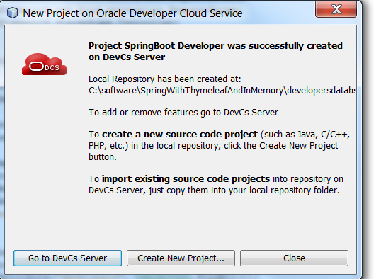 DevOps with Oracle Developer Service – Deploy SpringBoot